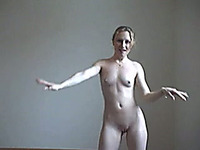 My svelte girlfriend loves dancing naked on camera