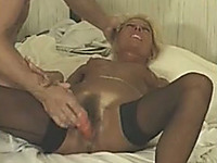 Just a hardcore classic anal sex for my cougar blonde wife