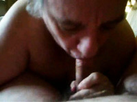 Very old grandma giving me blowjob on amateur sex video