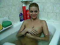 My sizzling hot Bulgarian girlfriend getting cunnilingus from me