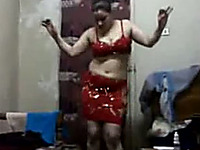 The erotic Indian dance from my chubby wife as a prelude