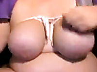 Webcam solo with me demonstrating my big natural tits