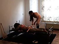 Homemade BDSM scene with me dominating my husband