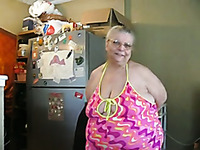 Dirty and popular BBW granny shows her big tits on cam