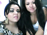 Two voluptuous filthy whores on webcam show their goodies