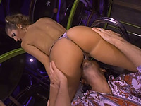 Luscious girl enjoys cunni and ardent rear banging indoors