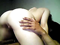 My sizzling hot babe with nice booty rides my dick