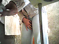 Hidden cam - wife's girlfriend takes piss and wipes her cunt