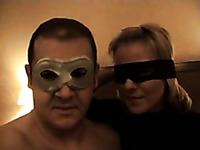 Italian mature couple wear masks and have sex on cam