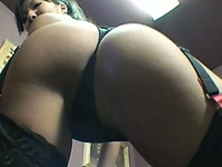 Fabulous brunette Asian girl with perfect ass and body