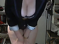 Extremely great looking webcam model with big tits shows off her booty
