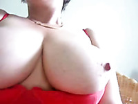 Mature slut with big boobs fucks herself with her rabbit vibrator
