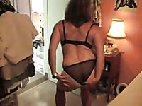 My curvy French wife in black lingerie gets mish fucked properly