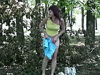 Sexy Russian sweetie pees a gallon of piss in her pants