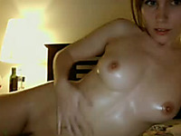 Homemade solo with me stroking my beautiful oiled body