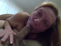 Depraved blonde granny sucks my prick in 69 position