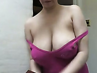 Raunchy MILF loves showing off her precious big boobies