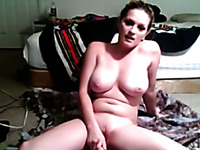 Webcam temptress with big beautiful boobs just loves her new sex toy