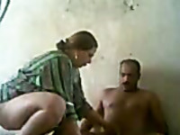 Best friend fucks one mature chubby Arab prostitute at the whore house