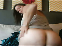 Curvy mature woman with fat ass is damn proud of her big knockers