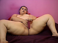 BBW with big breasts and pretty face on webcam masturbating