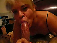 Stacked blonde milf lady enjoys my big hard shaft on POV home video