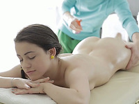 Svelte cutie is getting a special treatment in the massage parlor