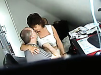 One of my co-workers fucks lustful secretary in front of a hidden camera