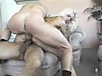Filthy slut wife of mine gets fucked by two massive dicks in front of me