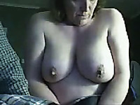 Fat Russian housewife with huge boobs is a nice webcam whore