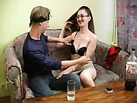 Skanky Russian whore jumps on my young cock and reaches orgasm