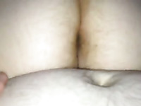 My BBW wife is riding my stiff dick reverse cowgirl style