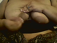 Chubby amateur milf lady flashed her tits on webcam