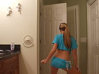 Hot solo scene with an amateur girl dancing and taking her clothes off