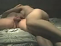 Lascivious curvy wife joyfully rides my thick dick on top