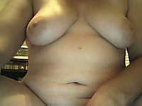 Chubby mom shows her body for the webcam and fingers her snatch