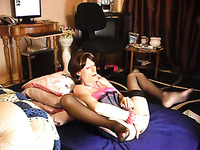 I and my filthy ladyboy girlfriend having fun in bed