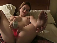 Sweet hot white girlfriend blows my dick and rides me on top