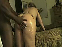 Big fat thick white ass oiled up for a good smooth penetration