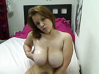 Beautiful girlfriend with big tits makes me cum on her breast