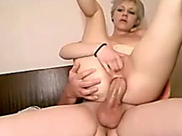 My huge cock in her anal hole looks extremely hot
