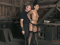 Hot BDSM video with brunette cutie Jade getting whipped