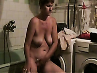 My old wifey with saggy breasts just loves masturbating in front of me