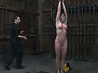 Boobalicious redhead deserves a good old fashioned ass whipping