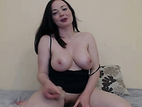 Flawless Busty French Babe Toys her Pussy And Ass