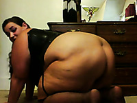 Homemade solo clip with my huge-assed wife exposing her body