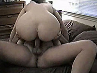 Hammering my chubby wife's tight wet pussy doggystyle in bed