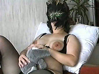 Sweet hairy pussy of my MILF pregnant wife gets fucked doggystyle