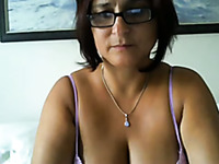 Mature slut with massive melons shows her naughty side to me