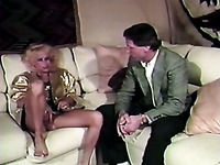 Vintage blonde milf is easily picked up and fucked